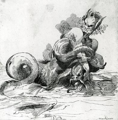 Sea Monster, by John Hamilton-Mortimer, 18th Century