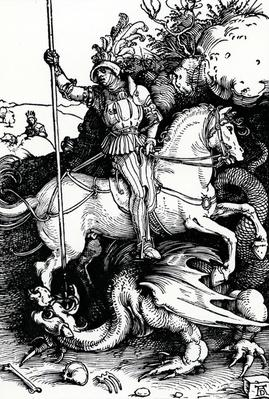 St. George and the Dragon, after Albrecht Duerer, 1501/1504
