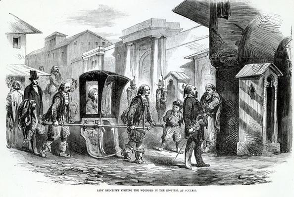 Lady Redcliffe visiting the Hospital at Scutari, 19th Century