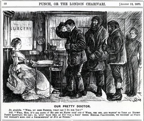 Our Pretty Doctor, published in Punch Magazine, 1870