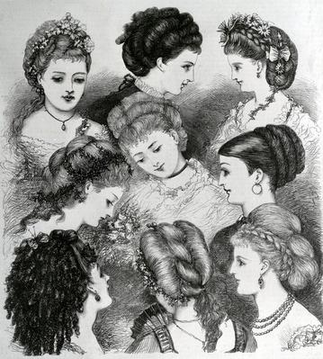 The Present Fashions in Hair, 1870