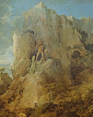 Landscape with Hercules and Cacus, c.1656