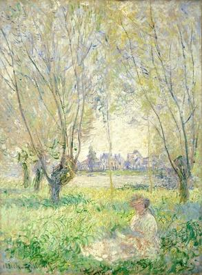 Woman seated under the Willows, 1880