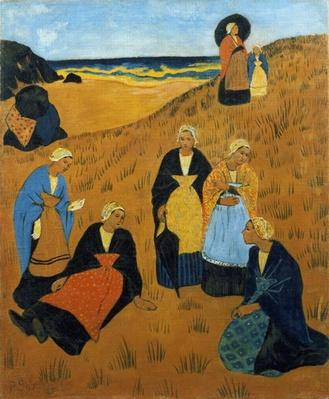 Young Breton Women wearing Shawls, or The Girls of Douarnenez, 1895, Serusier, Paul by Private Collection