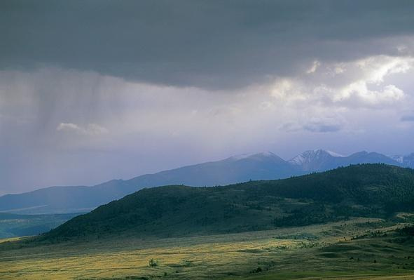 A Fall Snow Squall Over Pioneer Mountains, Near Whitehall | Earth's Surface
