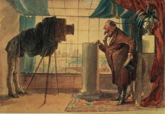 A Businessman at the Photographer's Studio, 1860