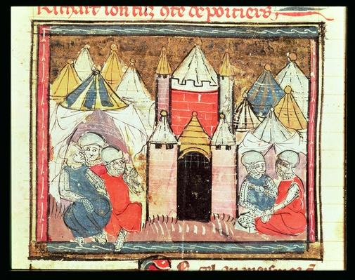 f.259r The Siege of Chateau-Gaillard in 1204 when Philip Augustus of France