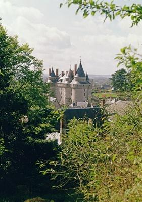 View of the restored chateau from the north west, built for Jean Bourre, minister to Louis XI of France in c.1465