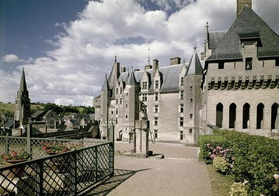 View of the west facade of the restored chateau built for Jean Bourre, minister to Louis XI of France, c.1465