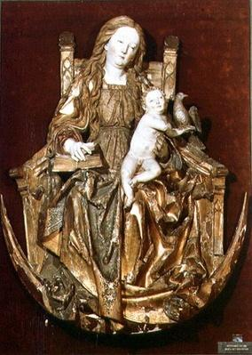Madonna and Child Enthroned above a crescent moon, c.1510