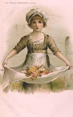 Little Girl with Flowers in her Apron