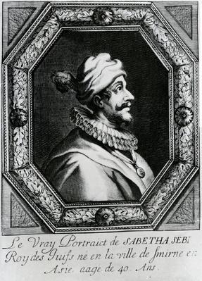 Le Vray Portraict de Sabetha Sebi Roy des Juifs ne en la ville de Smirne en Asie aage de 40, published by B. Moncornet, c.1666