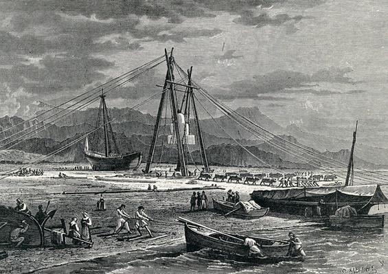 Embarkation of a Block of Marble: Avenza, 19th Century