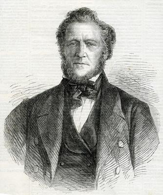 Brigham Young, President and Chief Prophet of the Mormon Church, taken from the Illustrated London News, 1861
