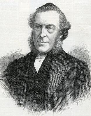 The Rev. John Bedford, President of the Wesleyan Methodist Conference, taken The Illustrated London News, 1867