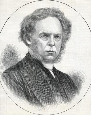 The Rev. G. T Perks, President of the Wesleyan Methodist Conference, taken from The Illustrated London News, 1873