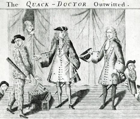 The Quack Doctor Outwitted, published by Sutton Nichols, 1558