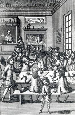 "The Coffeehouse Mob, by Edward Ward, taken from ""Vulgus Britannicus"", 1710"