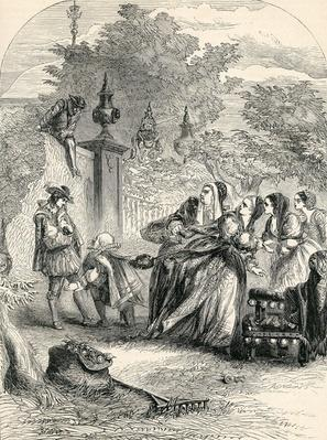 Prince Charles surprising the Infanta in Orchard, 19th Century