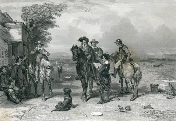 The King on his Journey to the Scots, engraved by Frederick. T. Heath, 1844
