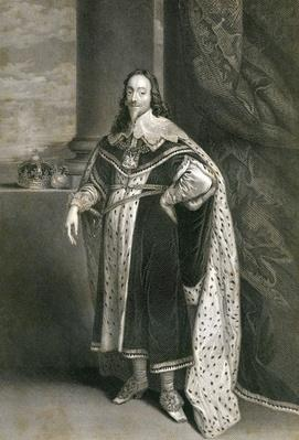 Charles 1st, engraved by F. Holl after Van Dyck, 19th Century