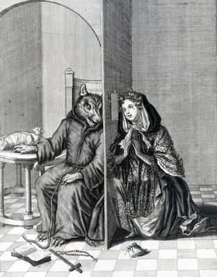 Converte Angliam, or It is a foolish Sheep that makes the Wolf her Confessor, 19th Century