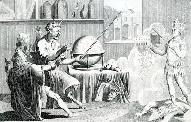 The Parlmt. dissolved, or, the Devil turn'd fortune teller, engraved by G. Terry, circa 1774