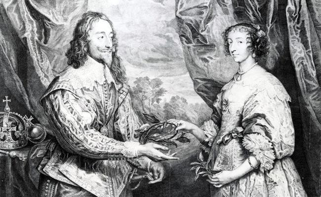 The Marriage of Henrietta and Charles, engraved by G. Vertue after Van Dyck, 1742