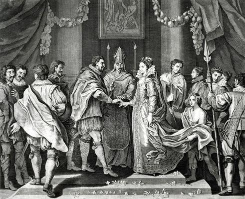 The Marriage of the King, after a painting by L. Cheron, 19th Century