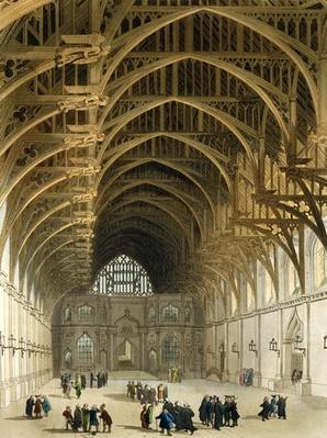 Westminster Hall, engraved by J. Bluck