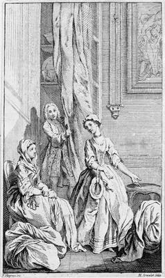 Illustration for 'Pamela', by Samuel Richardson, 1742