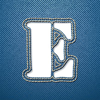 Denim Jeans: Letter E | Clipart