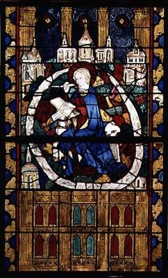 St. John the Evangelist writing the Apocalypse, Parisian School, c.1350