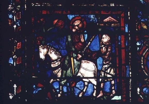 Window depicting St. Martin Dividing his Cloak with the Beggar, from the Life of St. Martin in the north ambulatory