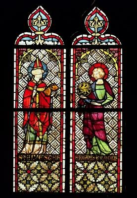 SS. Sylvester and John the Evangelist, from the Collegiate church of Our Lady of the Assumption at Romont, c.1330