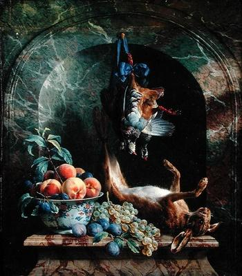 Still Life with Dead Game in a Marble Niche, 1706