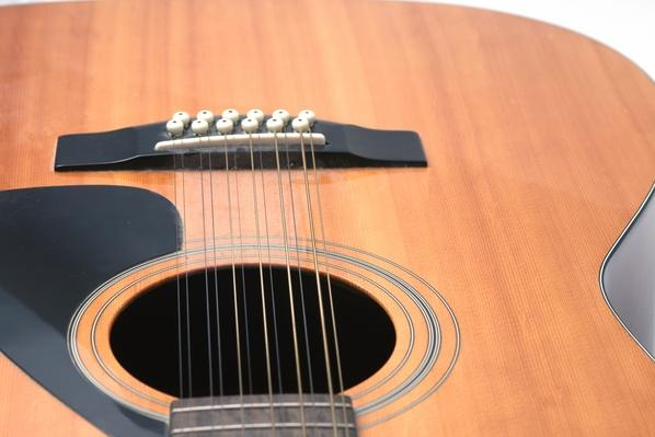 guitar closeup of soundhole, bridge and lower body | Musical Instruments