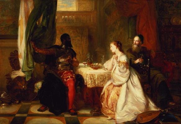 Othello Relating His Adventures to Desdemona, 1869