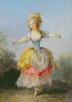 Dancer dressed in Louis XVI costume