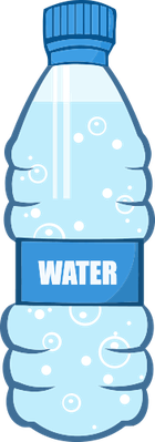 Cartoon Water Bottle | Health and Nutrition