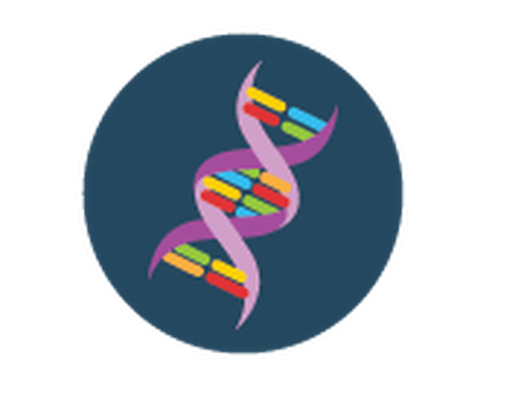 Science Icons - Yellow and Blue - DNA | Clipart