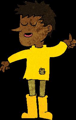 Cartoon Poor Boy With Positive Attitude | Clipart