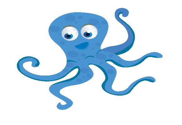 Blue Octopus | Clipart