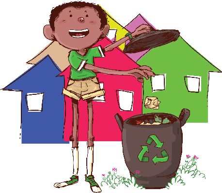 Boy Recycling | Clipart