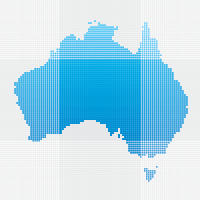 Australia Map: Blue Dot Pattern | Clipart