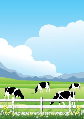 Idyllic Farm Scene | Clipart