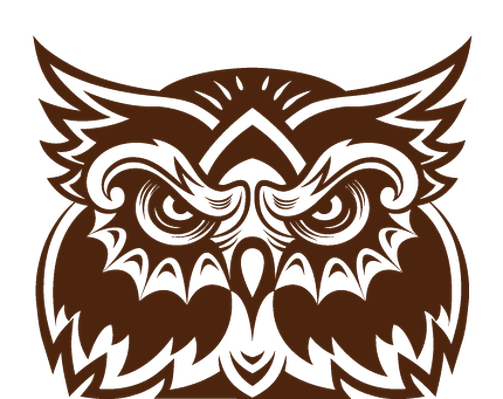 Collection of Wise Old Owl Faces | Clipart