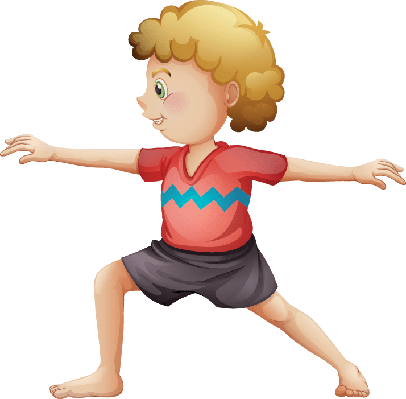 Young Gentleman Doing Yoga | Clipart