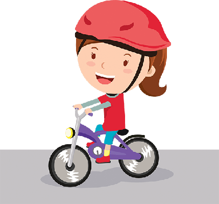 Bikes and Bicycles - Girl Riding Bike | Clipart