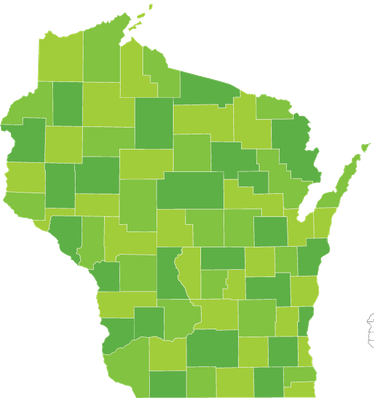 Wisconsin County Map | Clipart